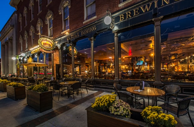 Enjoy a broad American menu & house-brewed beer in a vast but warm setting with a chocolate shop on-site at Martha's Exchange - only 2.8 miles from The Alcove